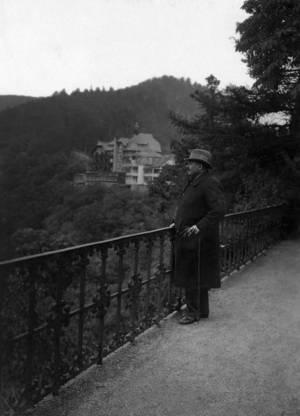 Friedrich Ebert während seines Urlaubs in Schwarzburg