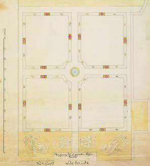 Plan des Schlossgartens, 1744