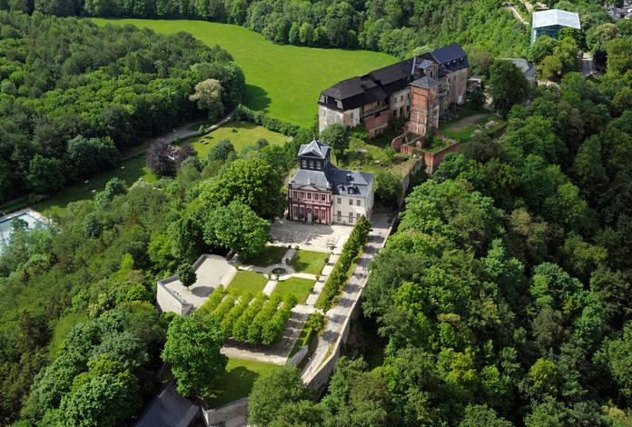 Luftbild der Schlossanlage, Bild: Thür. Stiftung Schlösser und Gärten, R. Kruse & Th. Seidel GbR