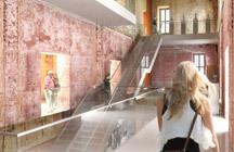 Virtuell: Personen auf Erkundung im Hauptgebäude