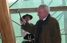 Dr. Paulus, Direktor der Stiftung Thüringer Schlösser und Gärten, beim Richtfest